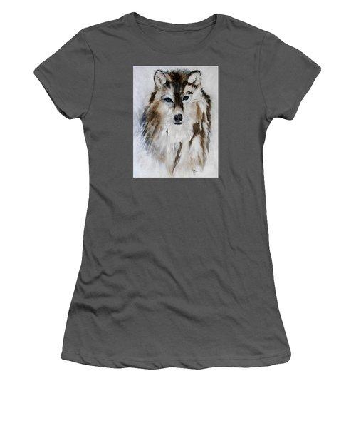 Wolf - Blue Star Women's T-Shirt (Junior Cut) by Barbie Batson