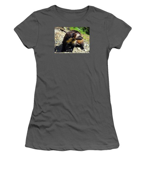 Women's T-Shirt (Junior Cut) featuring the photograph Wolverine Wilderness by Kathy Kelly