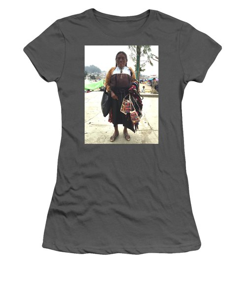 Woman In Chiapas. Women's T-Shirt (Junior Cut) by Shlomo Zangilevitch