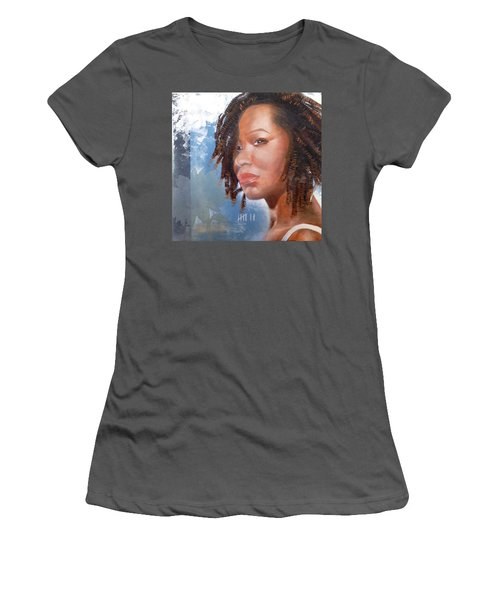 Women's T-Shirt (Junior Cut) featuring the painting Woman Of Magdala by Christopher Marion Thomas
