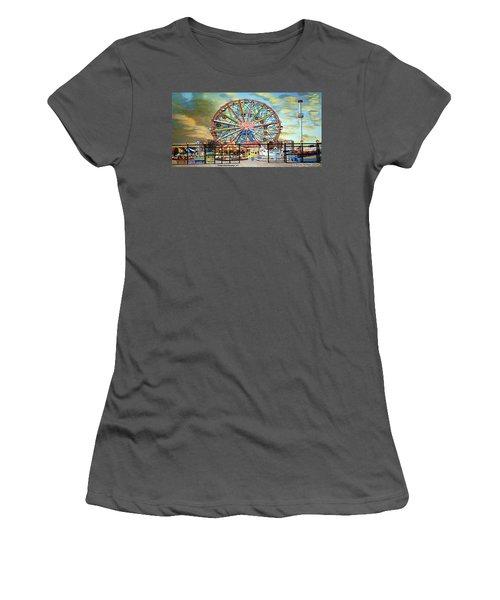 Wonder Wheel Image For Towel Women's T-Shirt (Athletic Fit)