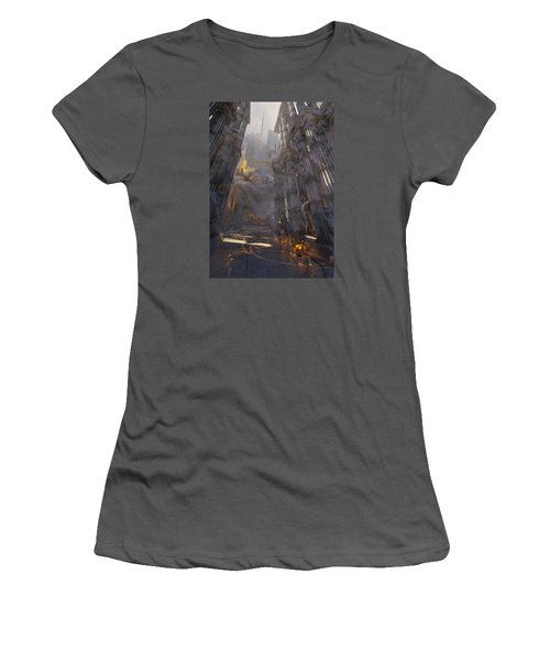 Women's T-Shirt (Junior Cut) featuring the digital art Wonders Temple Of Zeus by Te Hu