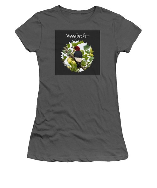 Woodpecker Women's T-Shirt (Junior Cut) by Jan M Holden