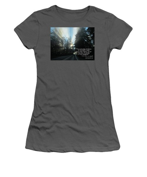 Women's T-Shirt (Athletic Fit) featuring the photograph World Kindness Day by Peggy Hughes