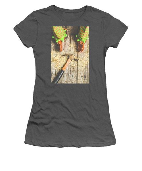 Xmas Workshop Elf Women's T-Shirt (Athletic Fit)