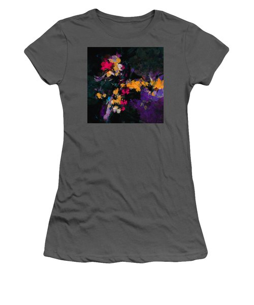 Yellow And Purple Abstract / Modern Painting Women's T-Shirt (Junior Cut) by Ayse Deniz