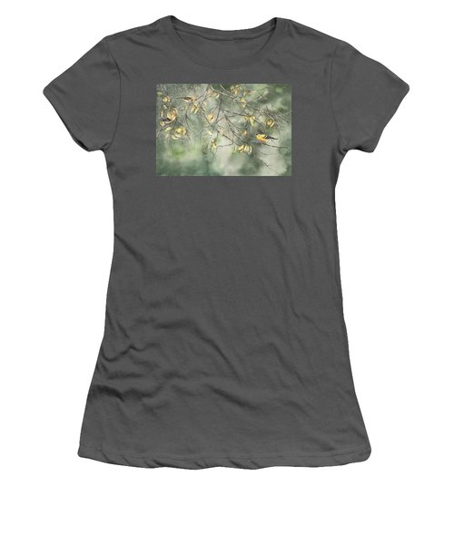 Yellow Finch Women's T-Shirt (Athletic Fit)