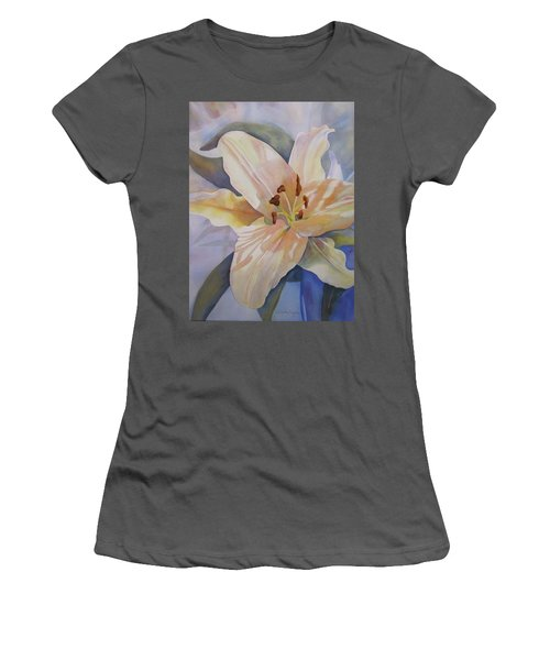 Yellow Lily Women's T-Shirt (Junior Cut) by Teresa Beyer