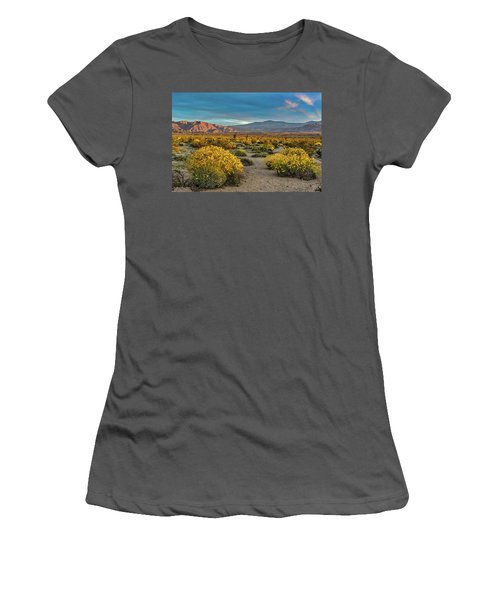 Women's T-Shirt (Junior Cut) featuring the photograph Yellow Sunrise by Peter Tellone