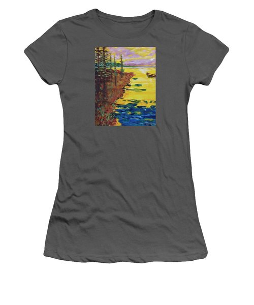 Yellow Sunset Women's T-Shirt (Athletic Fit)