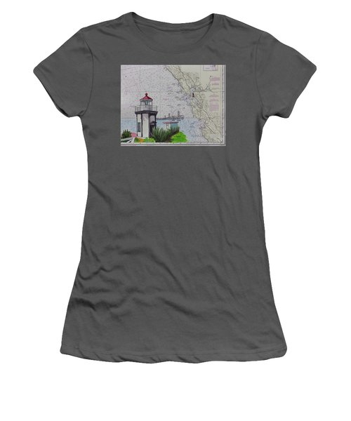 Yerba Buena Island Lighthouse Women's T-Shirt (Athletic Fit)