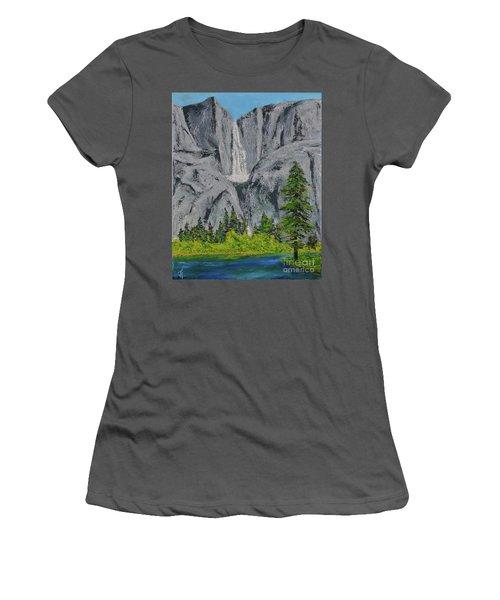 Yosemite Upper Falls Women's T-Shirt (Athletic Fit)