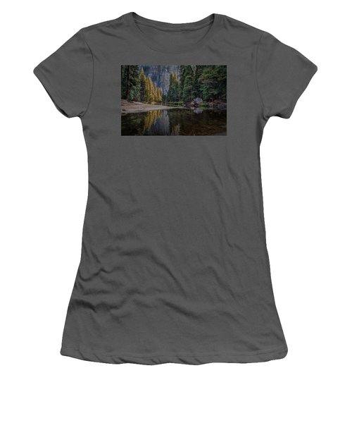 Yosemite Valley Reflections Women's T-Shirt (Athletic Fit)
