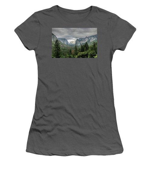 Yosemite View 36 Women's T-Shirt (Junior Cut) by Ryan Weddle