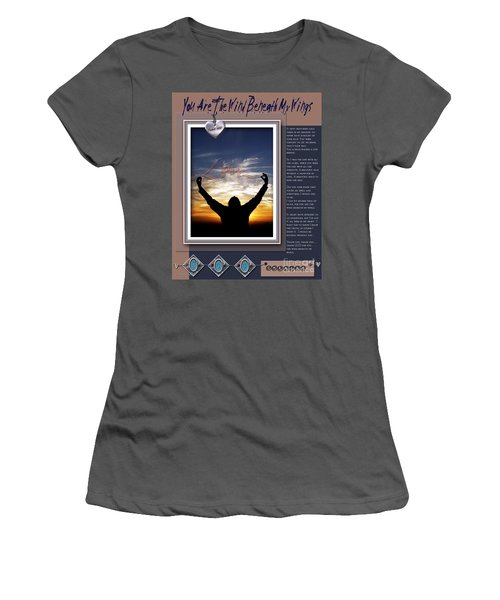 You Are The Wind Beneath My Wings Women's T-Shirt (Athletic Fit)