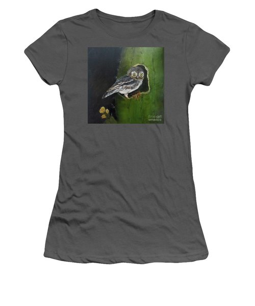Women's T-Shirt (Junior Cut) featuring the painting You Caught Me by Roseann Gilmore