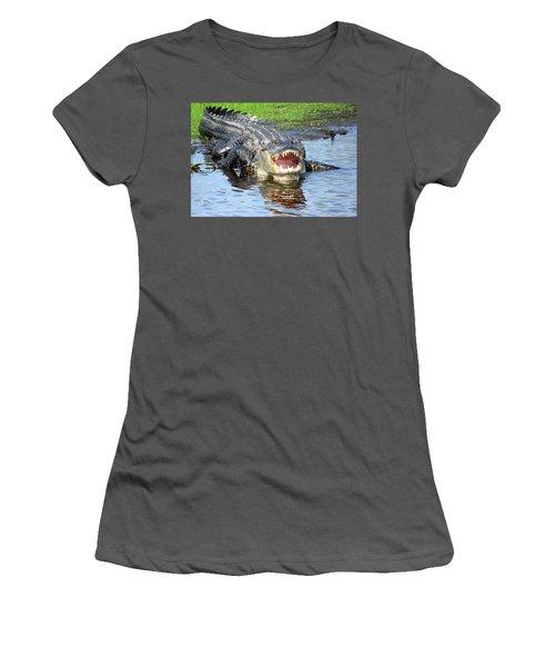 You May Think I'm Smiling Women's T-Shirt (Junior Cut) by Rosalie Scanlon