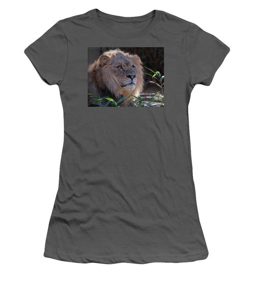 Young Lion King Women's T-Shirt (Athletic Fit)