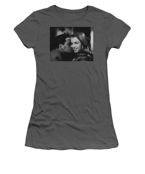 Women's T-Shirt (Athletic Fit) featuring the photograph Young Marilyn Monroe by R Muirhead Art