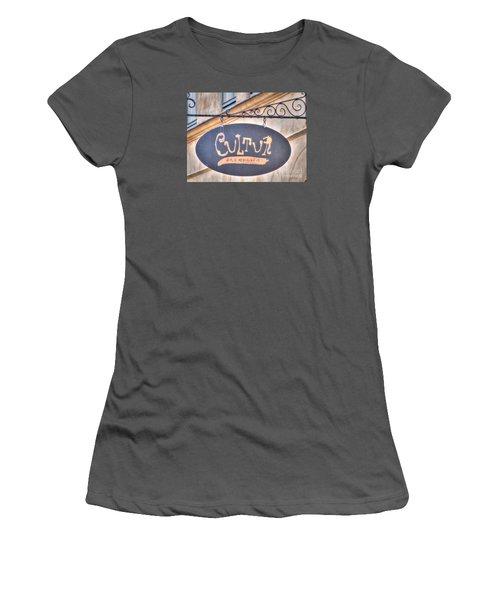 Women's T-Shirt (Junior Cut) featuring the pyrography Yury Bashkin Element City by Yury Bashkin