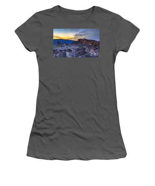 Zabriskie Point Sunset Women's T-Shirt (Athletic Fit)