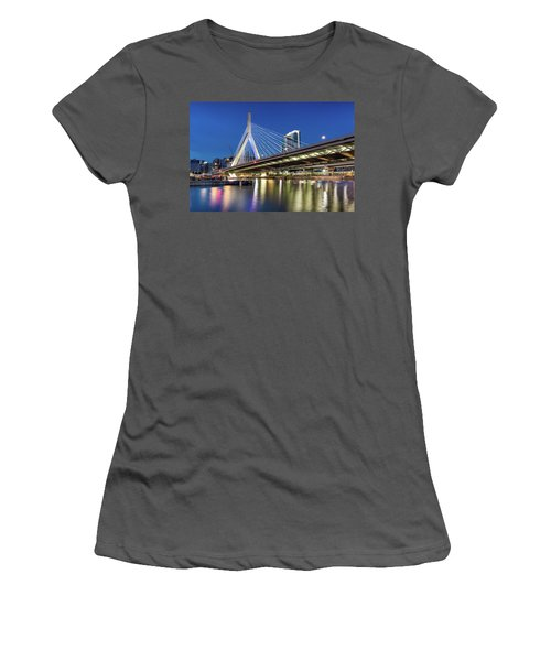 Zakim Bridge And Charles River Women's T-Shirt (Athletic Fit)