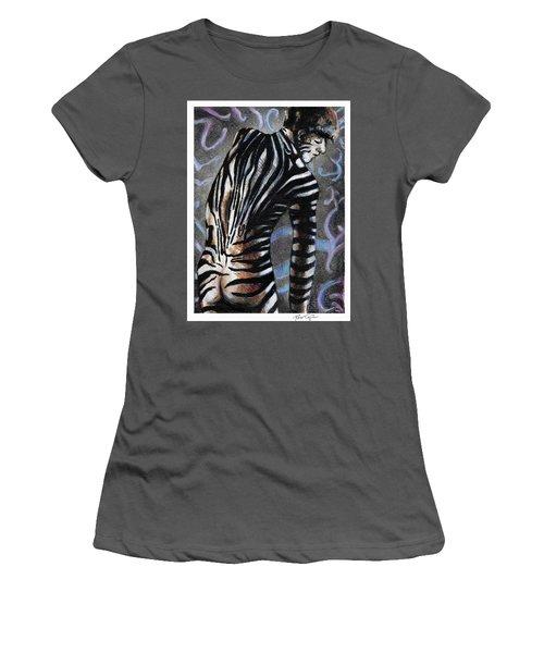 Zebra Boy At Dawn Women's T-Shirt (Athletic Fit)