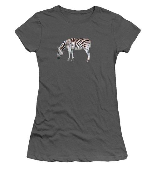 Zebra Women's T-Shirt (Junior Cut) by Pamela Walton
