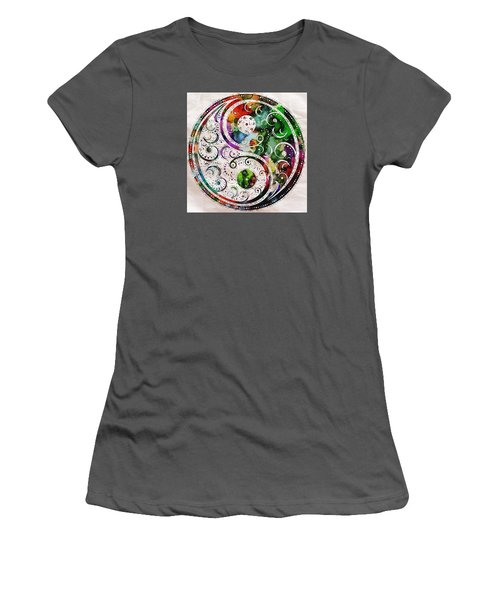Zen Bliss Large Poster Print Women's T-Shirt (Athletic Fit)