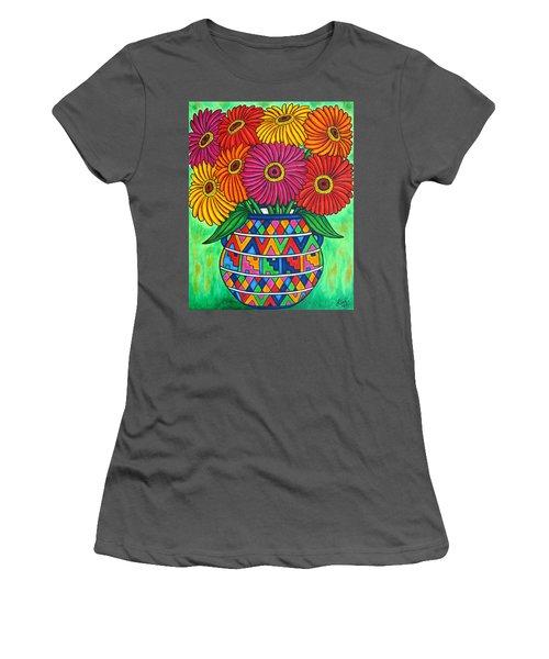 Zinnia Fiesta Women's T-Shirt (Athletic Fit)
