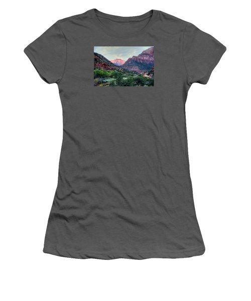 Zion National Park Women's T-Shirt (Junior Cut) by Charlotte Schafer