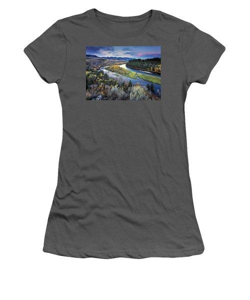 Autumn River Women's T-Shirt (Athletic Fit)