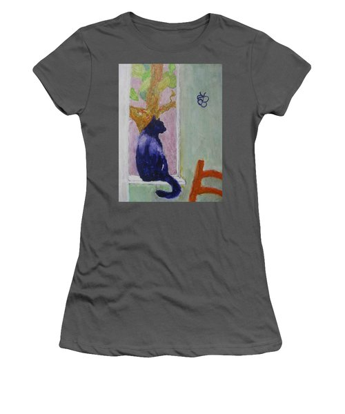 cat named Seamus Women's T-Shirt (Athletic Fit)