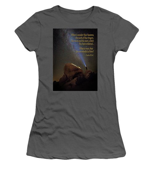 Consider The Heavens Women's T-Shirt (Athletic Fit)