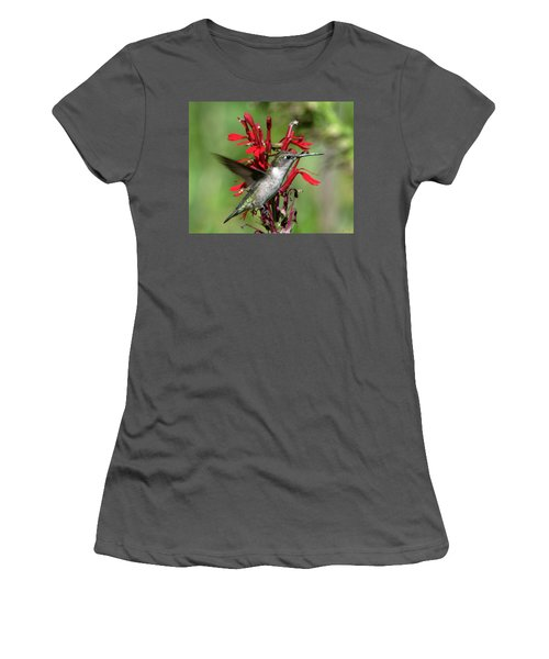 Female Ruby-throated Hummingbird Dsb0325 Women's T-Shirt (Athletic Fit)