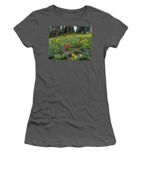 Mountain Wildflowers Women's T-Shirt (Athletic Fit)