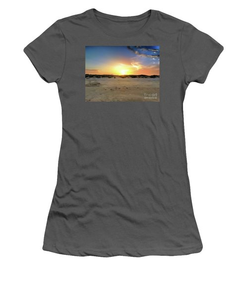 Sunset Over N Padre Island Beach Women's T-Shirt (Athletic Fit)