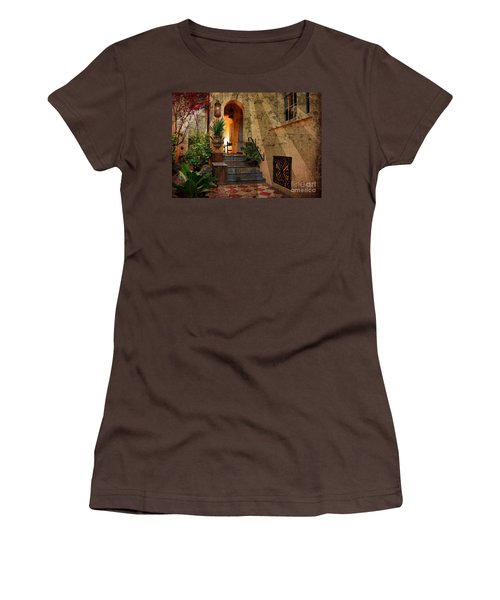Women's T-Shirt (Junior Cut) featuring the photograph A Charleston Garden by Kathy Baccari