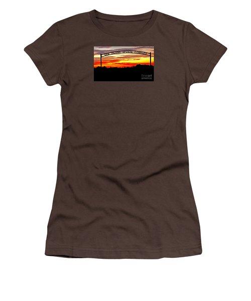 Beautiful Sunset And Emmett Sport Comples Women's T-Shirt (Junior Cut) by Robert Bales