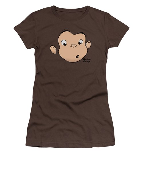 Curious George - George Face Women's T-Shirt (Junior Cut) by Brand A
