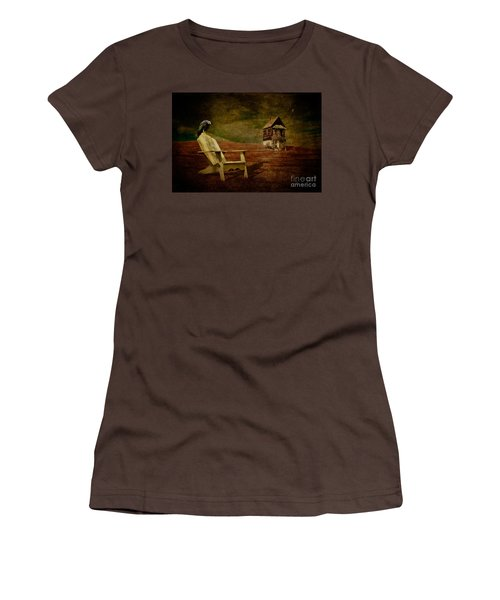 Hard Times Women's T-Shirt (Junior Cut) by Lois Bryan