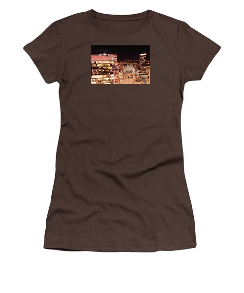 Women's T-Shirt (Junior Cut) featuring the photograph Hotel Vancouver And Wall Center Mdccv by Amyn Nasser