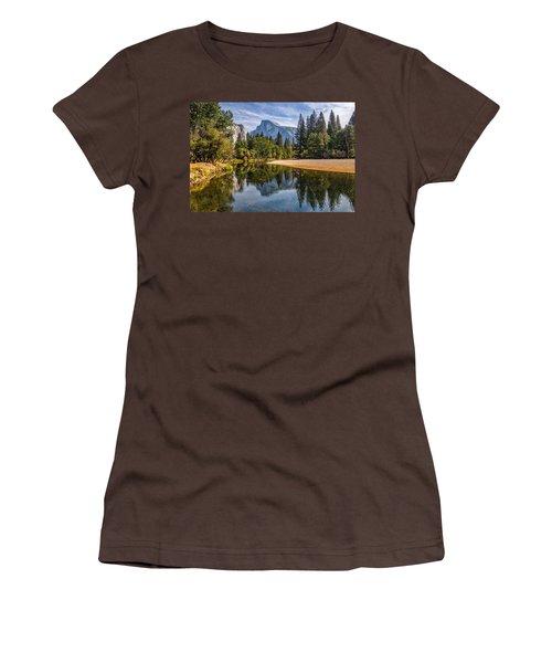 Merced River View II Women's T-Shirt (Junior Cut) by Peter Tellone