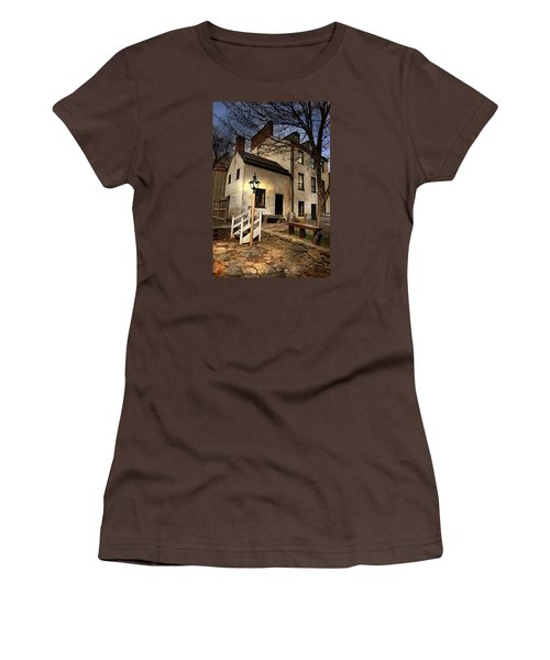 Women's T-Shirt (Junior Cut) featuring the digital art Night Watchman by Mary Almond
