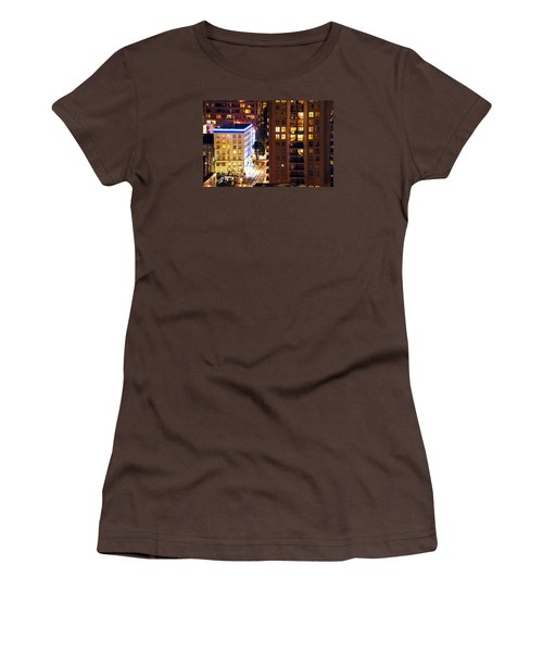 Women's T-Shirt (Junior Cut) featuring the photograph Observation - Man In Window Dclxxxi by Amyn Nasser