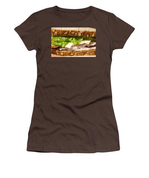 Smoked Turkey Sandwich Women's T-Shirt (Junior Cut) by Edward Fielding