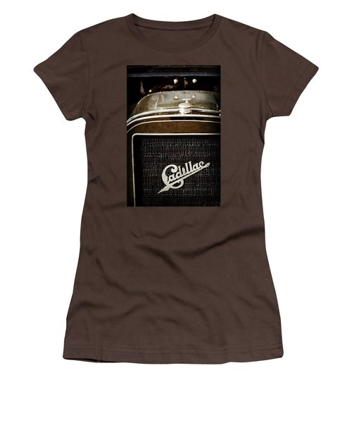 Women's T-Shirt (Junior Cut) featuring the photograph 1907 Cadillac Model M Touring Grille Emblem -1106ac by Jill Reger