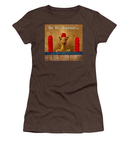 Fez Dispenser... Women's T-Shirt (Junior Cut) by Will Bullas