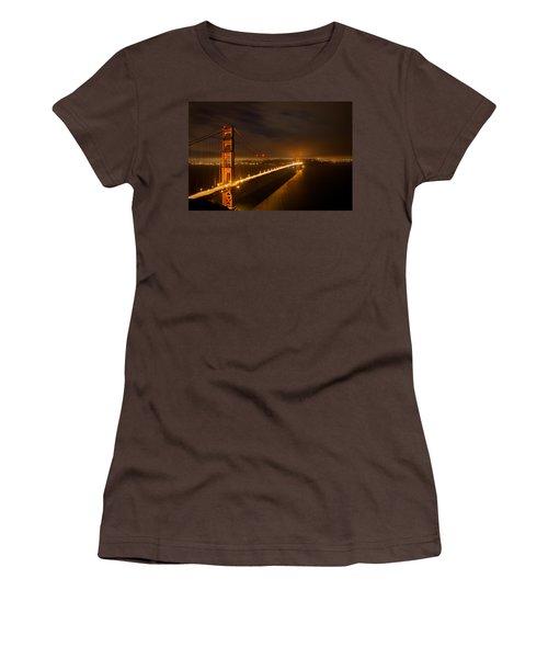 Women's T-Shirt (Junior Cut) featuring the photograph Golden Gate Bridge by Evgeny Vasenev