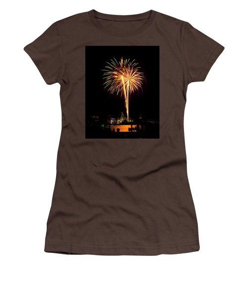 Women's T-Shirt (Junior Cut) featuring the photograph 4th Of July Fireworks by Bill Barber